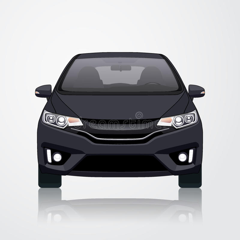 Schwarze Auto-Ikonen-Guss-Ansicht Auch im corel abgehobenen Betrag lizenzfreie stockfotos