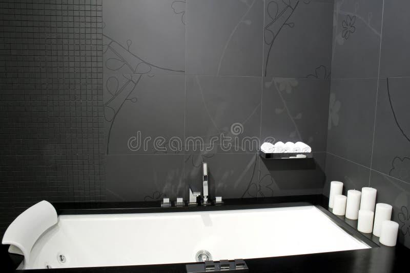 Schwarzes Badezimmer Stockbild. Bild Von Sauber, Dusche