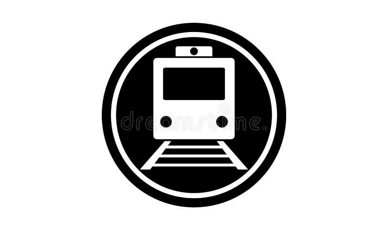 Schwarze Bahnhofsikone stockbild