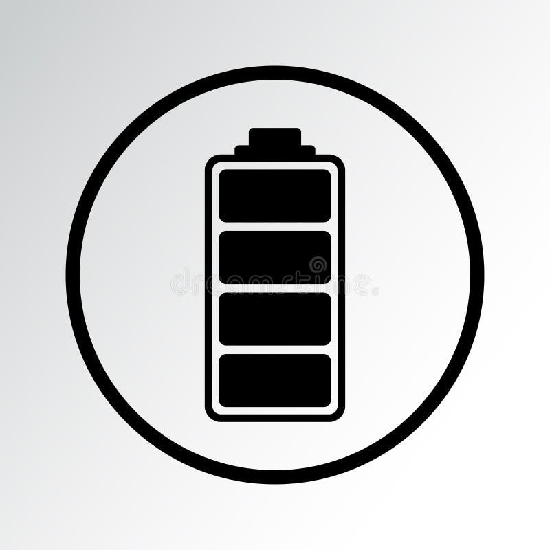Schwarze Batterie-Ikone Auch im corel abgehobenen Betrag stock abbildung