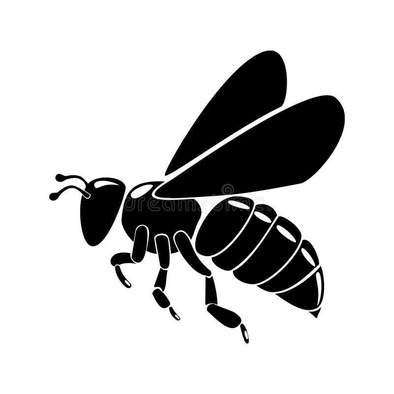 Schwarze Biene stock abbildung