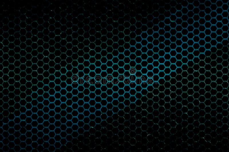 Schwarze, blaue und grüne metallische Maschenhintergrundbeschaffenheit lizenzfreie abbildung