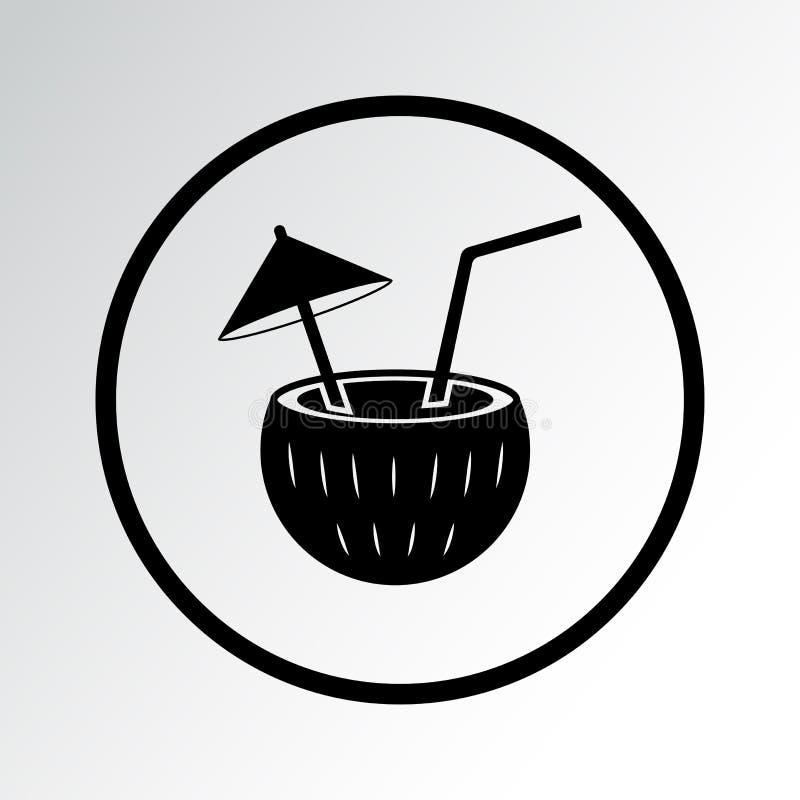 Schwarze Cocktailikone Auch im corel abgehobenen Betrag lizenzfreie abbildung