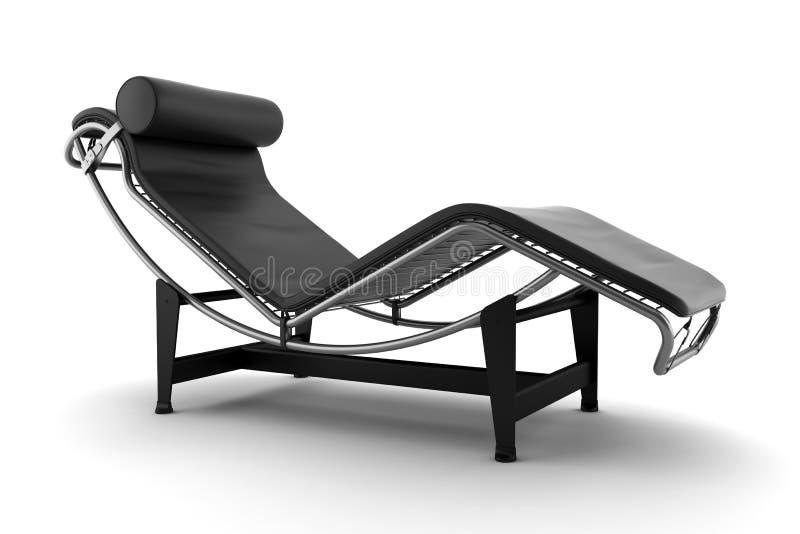 Schwarze Couch getrennt auf weißem Hintergrund lizenzfreie abbildung
