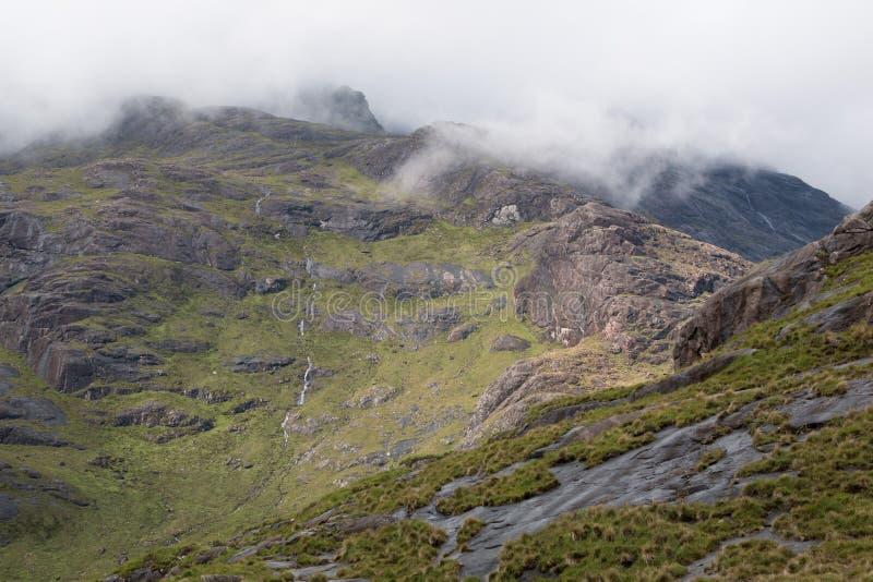 Schwarze Cuillins, Isle of Skye stockfotografie