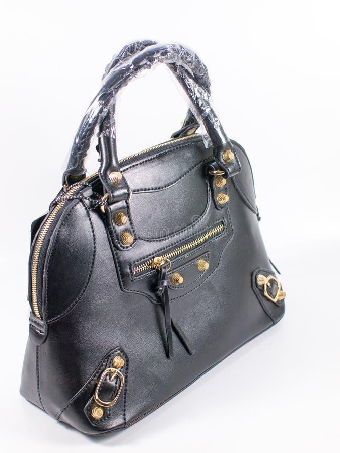 Schwarze Damenhandtasche stockfotos
