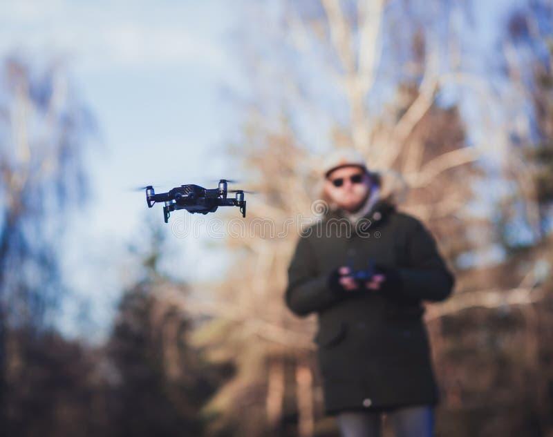 Schwarze Drohne lizenzfreie stockfotos