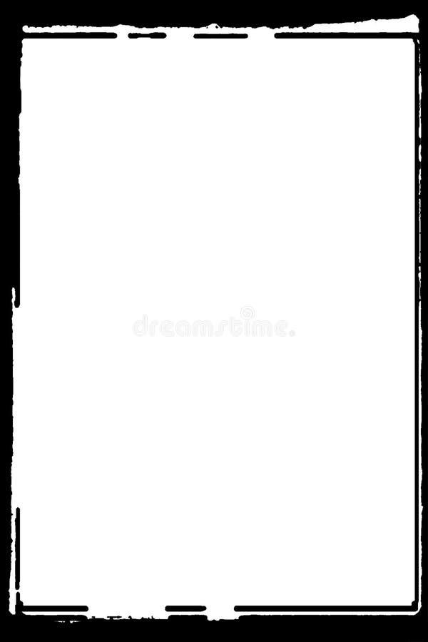 Schwarze Dunkelkammer-photographische Ränder für Porträt-Fotos vektor abbildung