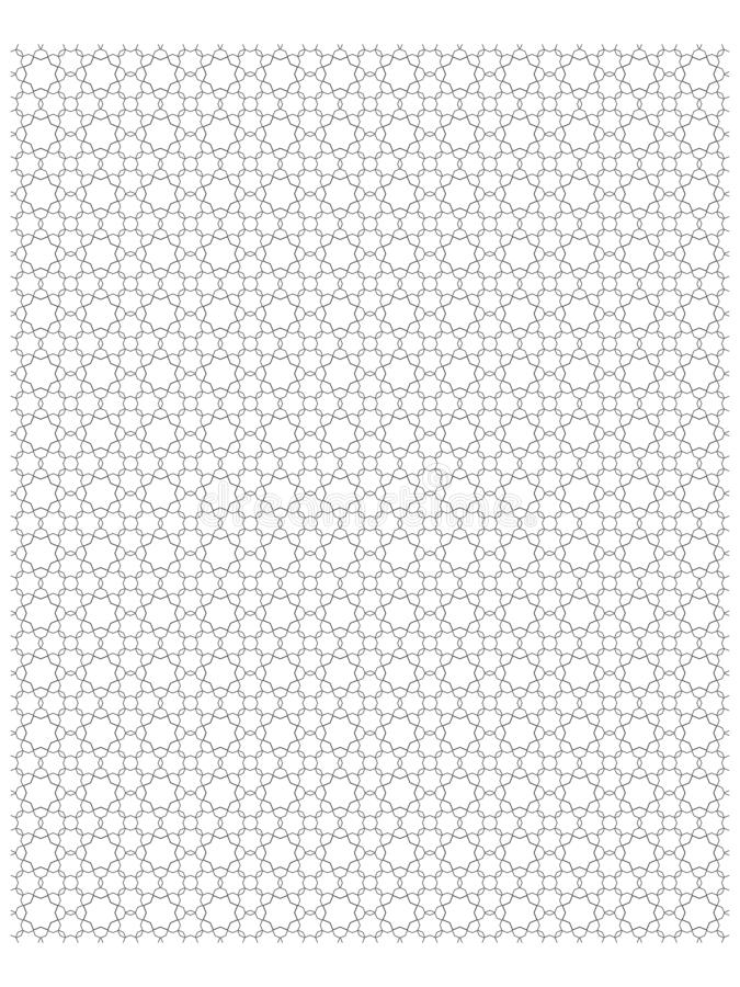 Schwarze Farbe des islamischen geometrischen Stils des Musters achteckigen in weißem background-01 stock abbildung