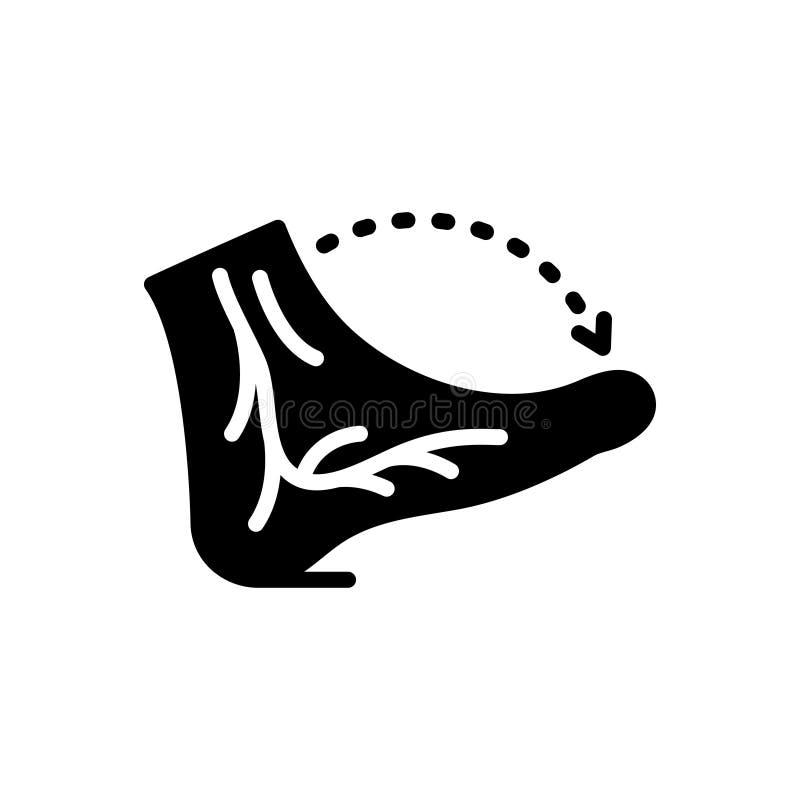 Schwarze feste Ikone für Adern, Bammel und Nerv lizenzfreie abbildung