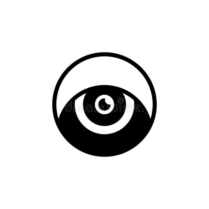 Schwarze feste Ikone für Auge, Schimmer und Blick lizenzfreie abbildung
