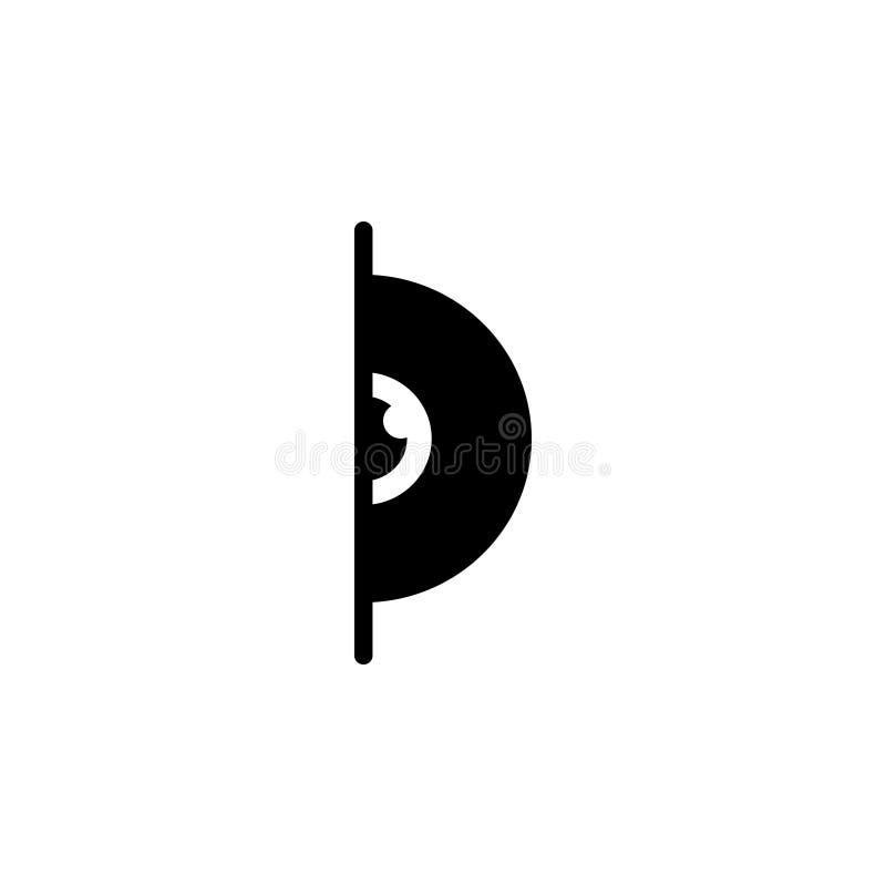 Schwarze feste Ikone für Auge, Schimmer und Vision vektor abbildung