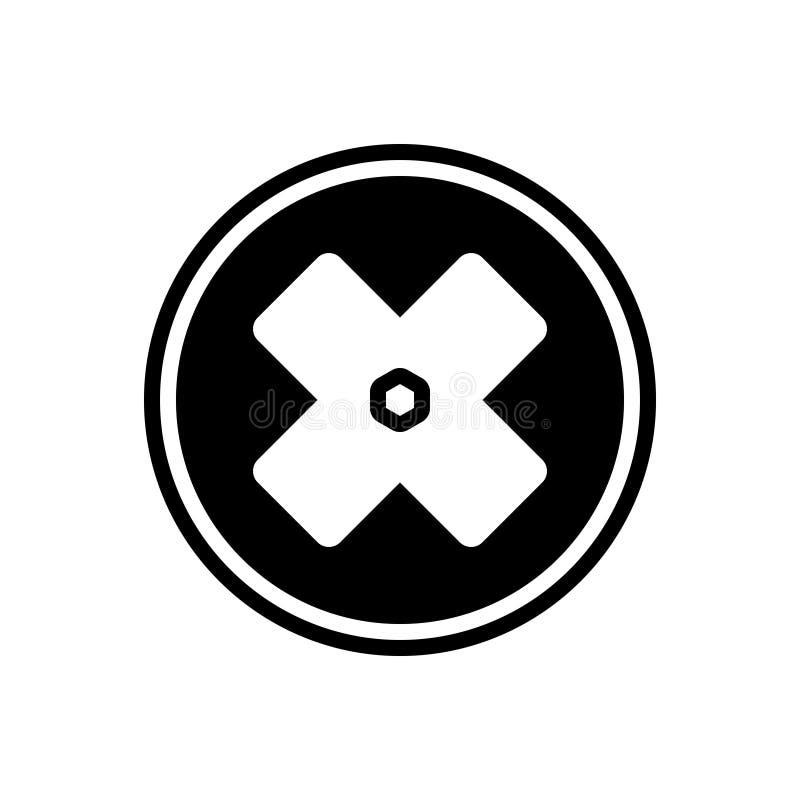 Schwarze feste Ikone für Ausfall, Fiasko und Unglücksboten vektor abbildung