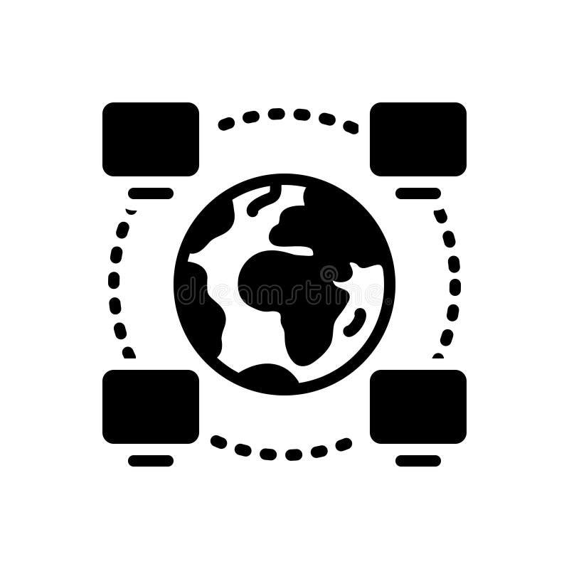 Schwarze feste Ikone für Betriebsfähigkeit, Projekt und Management stock abbildung