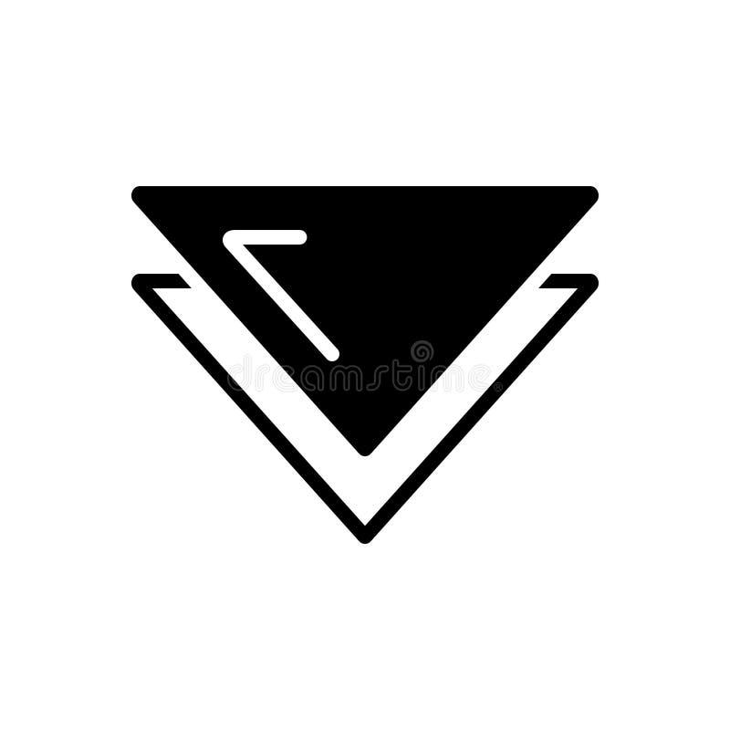 Schwarze feste Ikone für Bohrgerätabstieg, -website und -anwendung vektor abbildung