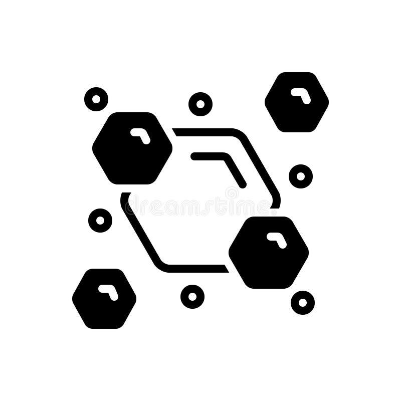 Schwarze feste Ikone für Consist, kombinieren und mischen stock abbildung