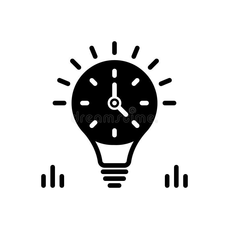 Schwarze feste Ikone für das Aushalten, ewig und beständig vektor abbildung