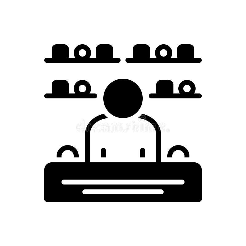 Schwarze feste Ikone für den Verkauf, Geschäft und Verbraucher stock abbildung