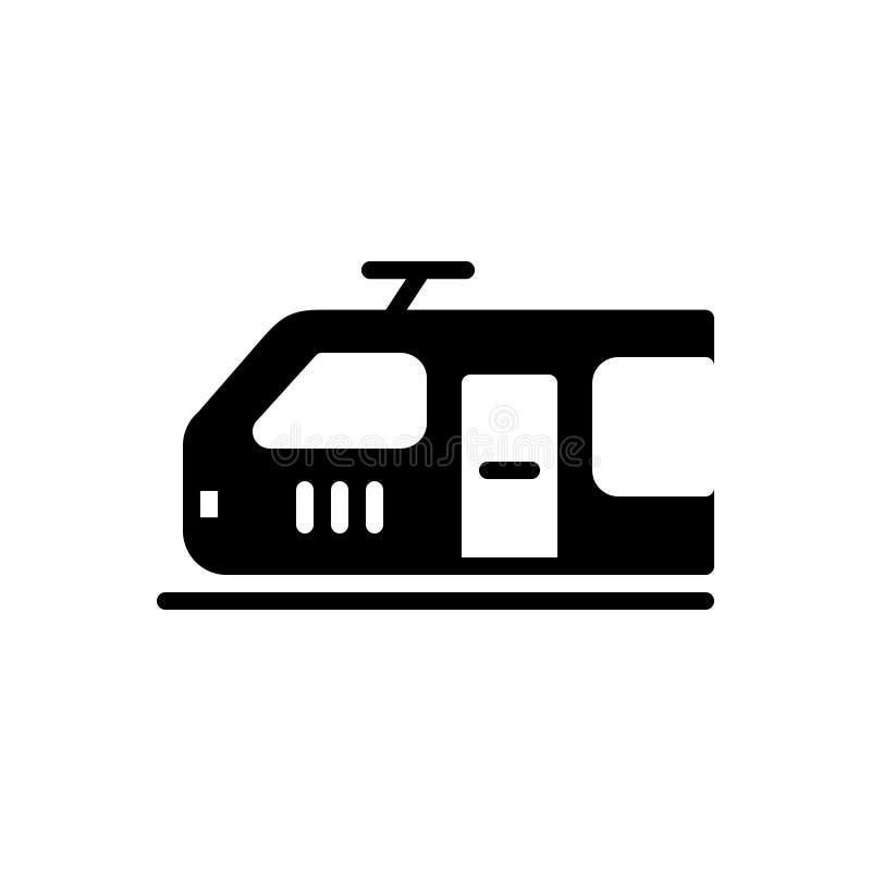 Schwarze feste Ikone für elektrische Maschine, Brennstoff und Transport lizenzfreie abbildung