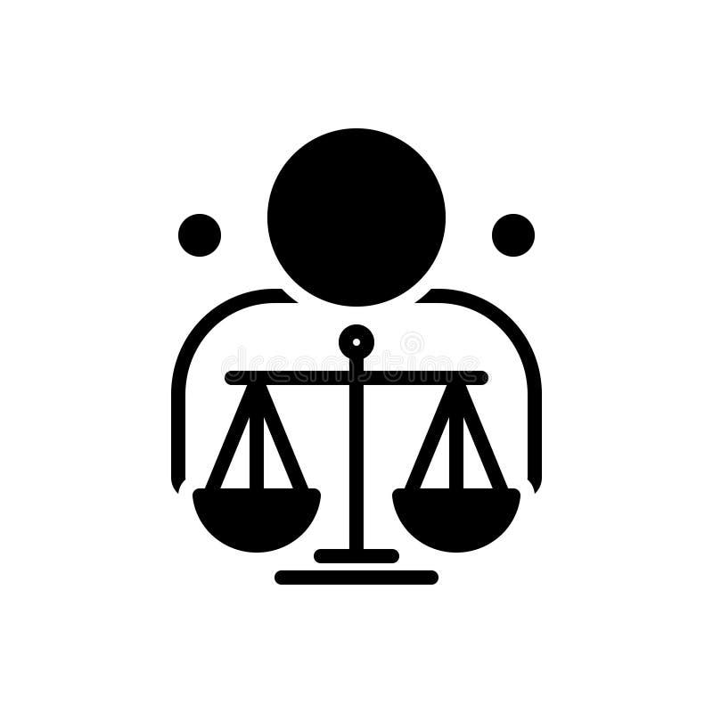 Schwarze feste Ikone für ethisches, Moral und Ethik lizenzfreie abbildung
