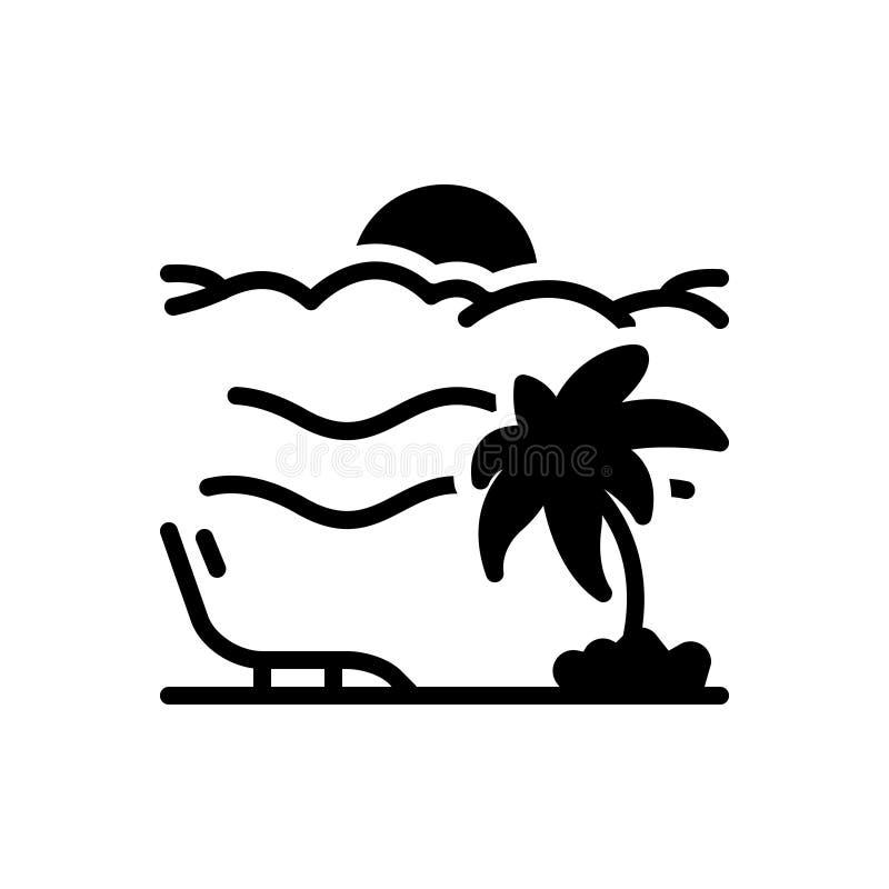 Schwarze feste Ikone für Ferien, Feiertag und Urlaub lizenzfreie abbildung