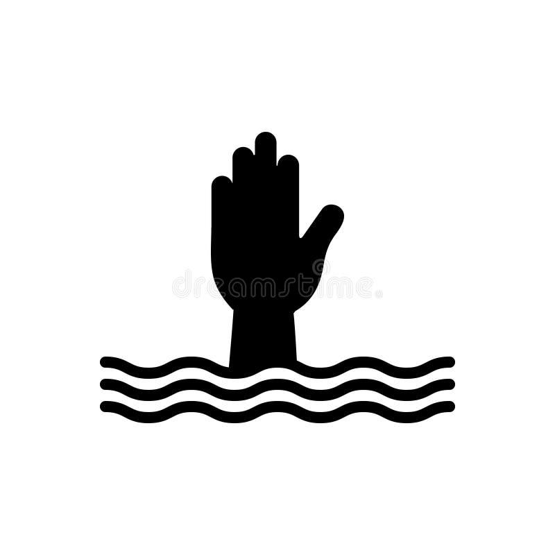 Schwarze feste Ikone für Notwendigkeit, Bedeutung und Notwendigkeit stock abbildung