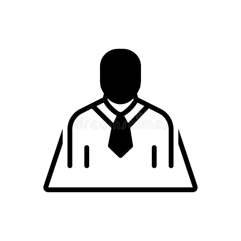 Schwarze feste Ikone für Position, Bezeichnung und Verabredung lizenzfreie abbildung