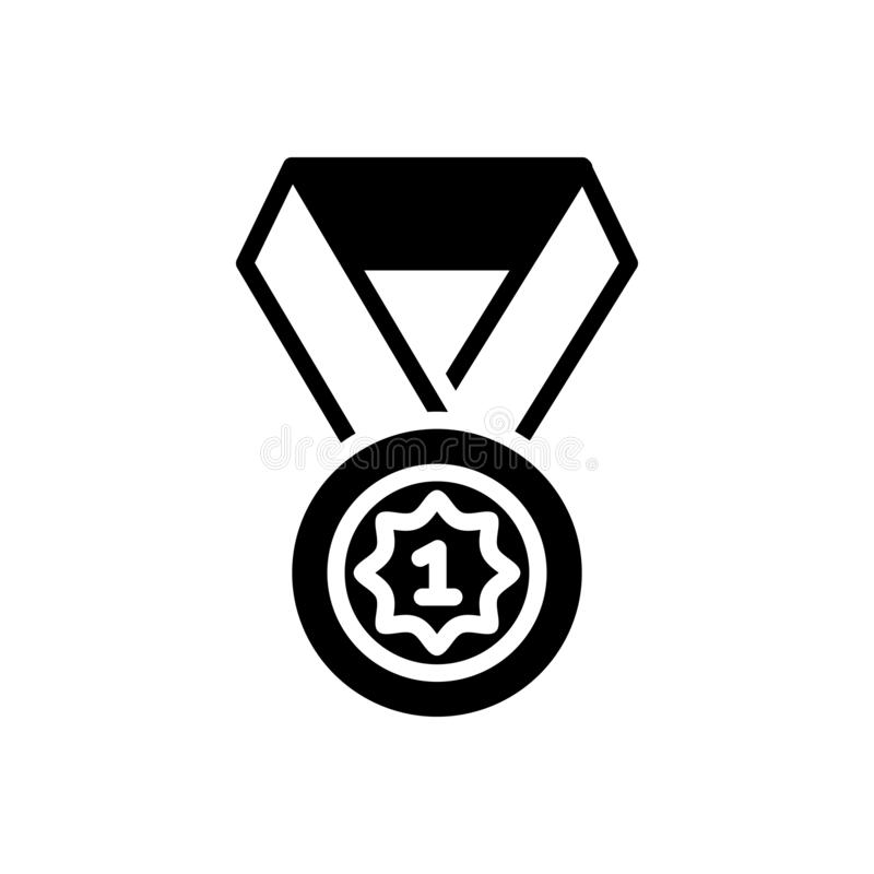 Schwarze feste Ikone für Position, Bezeichnung und Verabredung stock abbildung