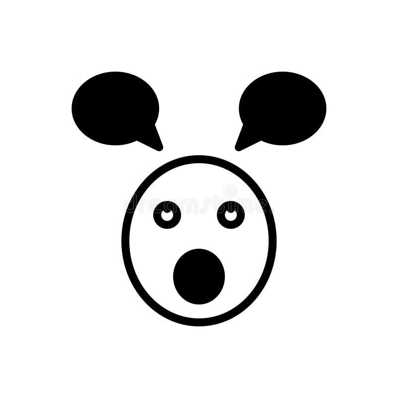 Schwarze feste Ikone für Sittich, dumm und dumm lizenzfreie abbildung
