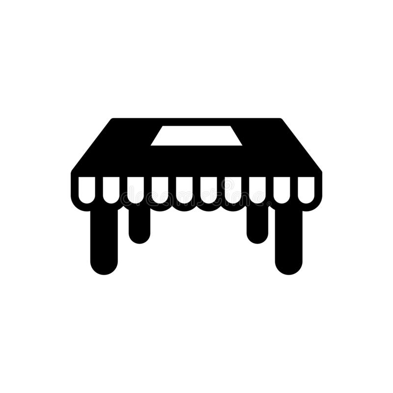 Schwarze feste Ikone für Tabellen, Schreibtisch und Holz vektor abbildung