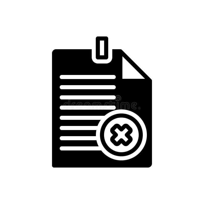 Schwarze feste Ikone f?r Ausfallung, Ausfall und Fiasko stock abbildung
