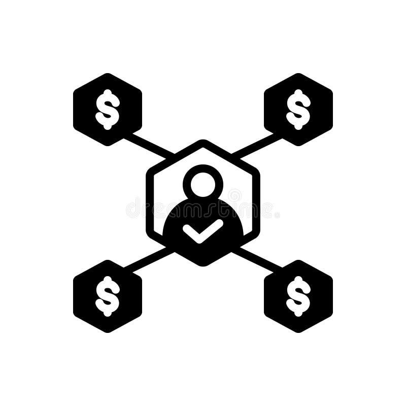 Schwarze feste Ikone f?r unternehmerische Entscheidung, Urteil und Urteilsspruch lizenzfreie abbildung