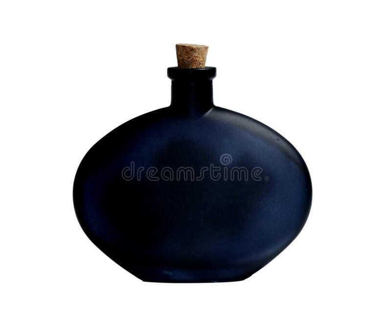 Schwarze Flasche lizenzfreie stockfotografie