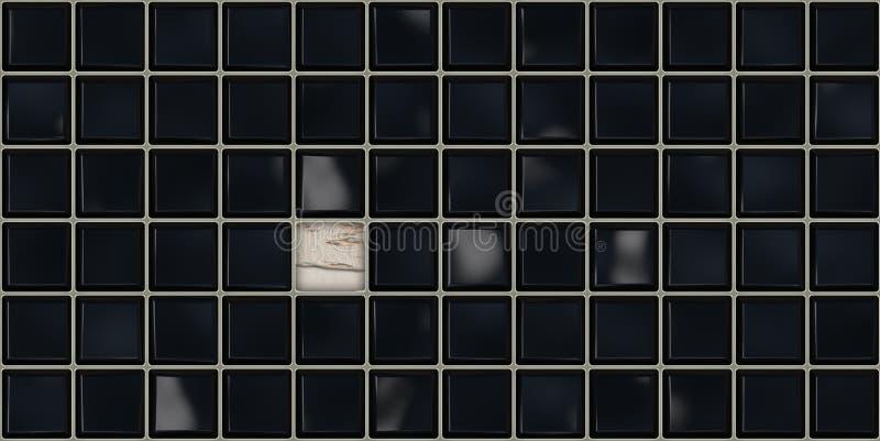 schwarze fliesen download stock abbildung illustration von glanzend 62800608 matte reinigen