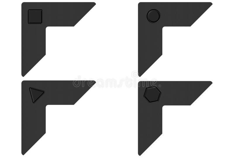 Schwarze Foto-Ecken vektor abbildung