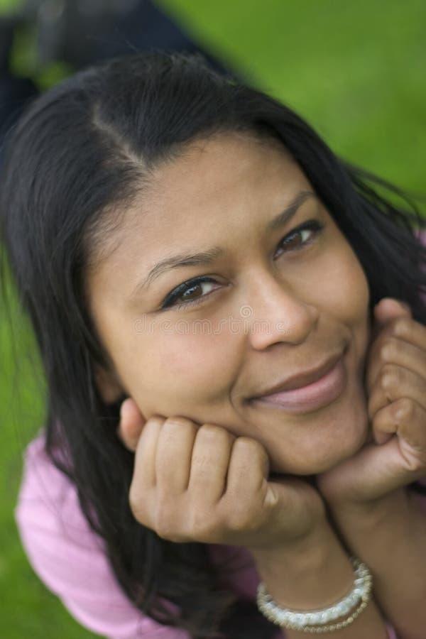 Schwarze Frau lizenzfreie stockfotos