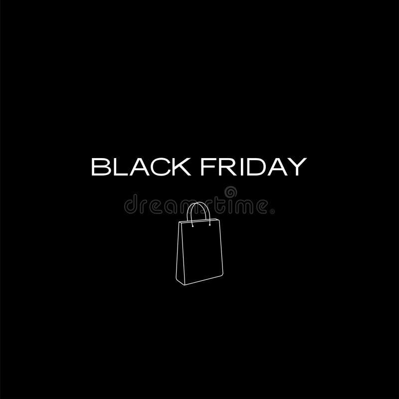 Schwarze Freitag-Einkaufstasche rgb stockfoto