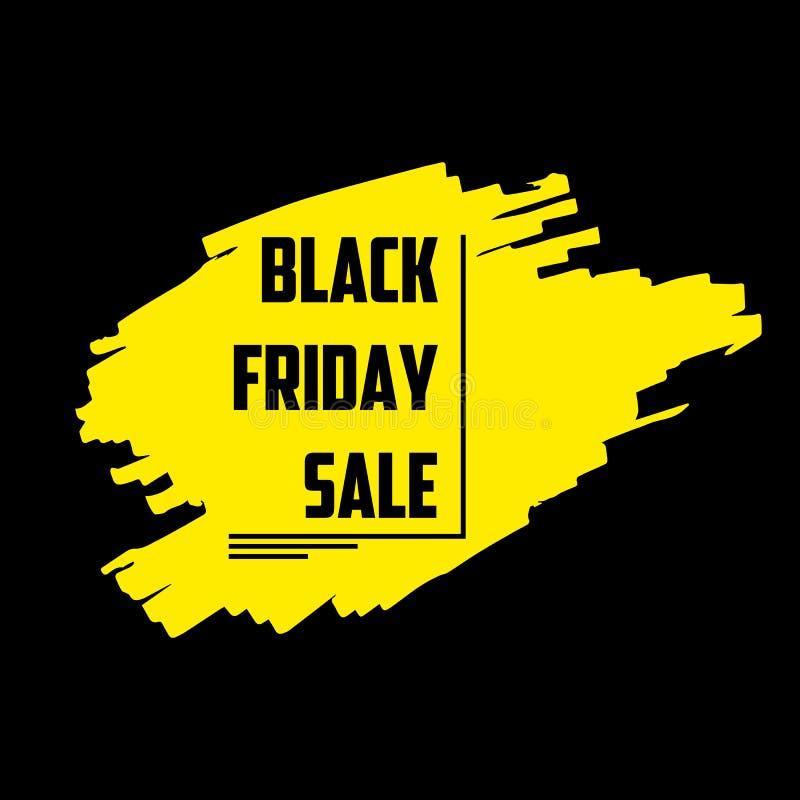 Schwarze Freitag-Verkaufs-Fahne lizenzfreie abbildung