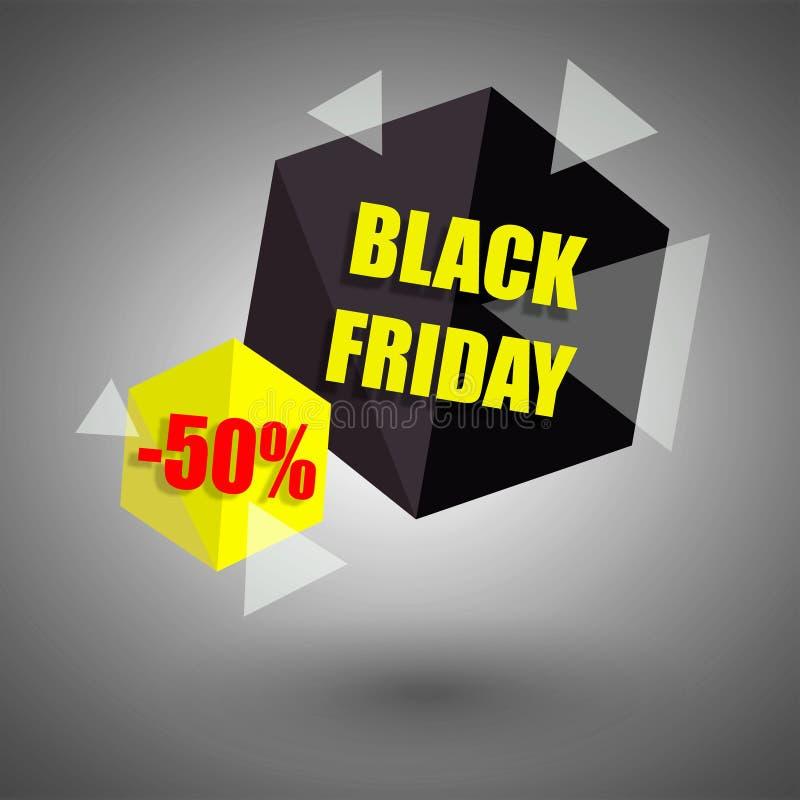 Schwarze Freitag-Verkaufs-Fahne stockfoto