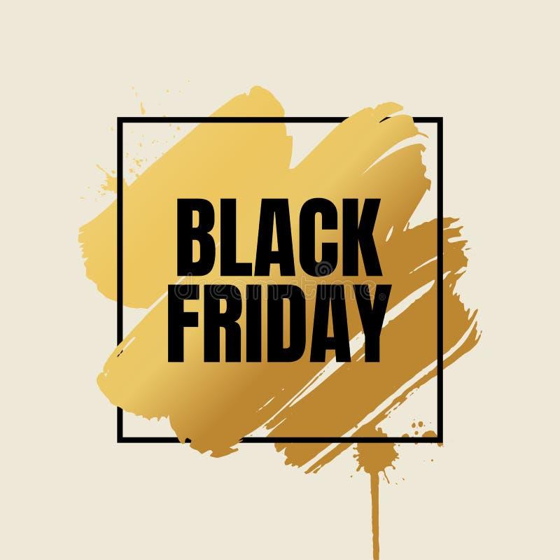 Schwarze Freitag-Verkaufs-Fahne Abstrakte Schmutzhintergrundschablone lizenzfreie abbildung