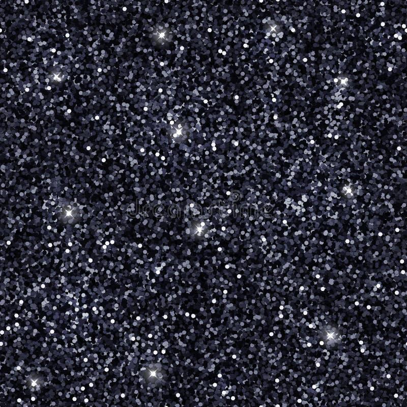 Schwarze Funkelnbeschaffenheit, nahtloses Muster Vektor vektor abbildung