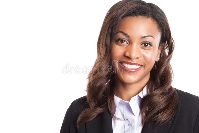 Schwarze Geschäftsfrau lizenzfreies stockfoto