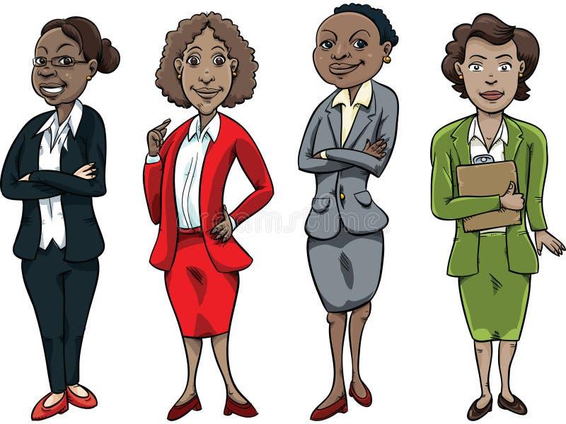 Schwarze Geschäftsfrau stock abbildung