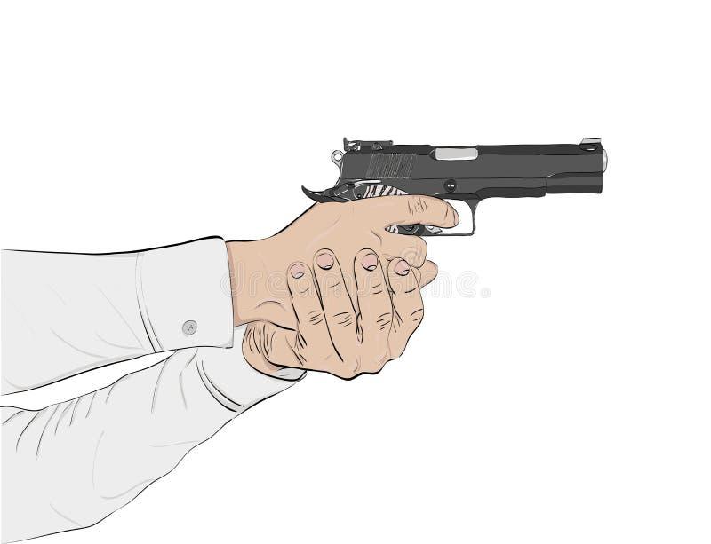 Schwarze Gewehr vektor abbildung