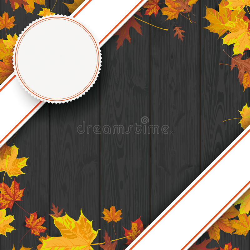 Schwarze hölzerne Hintergrund-Schrägflächen-Fahnen lizenzfreie abbildung