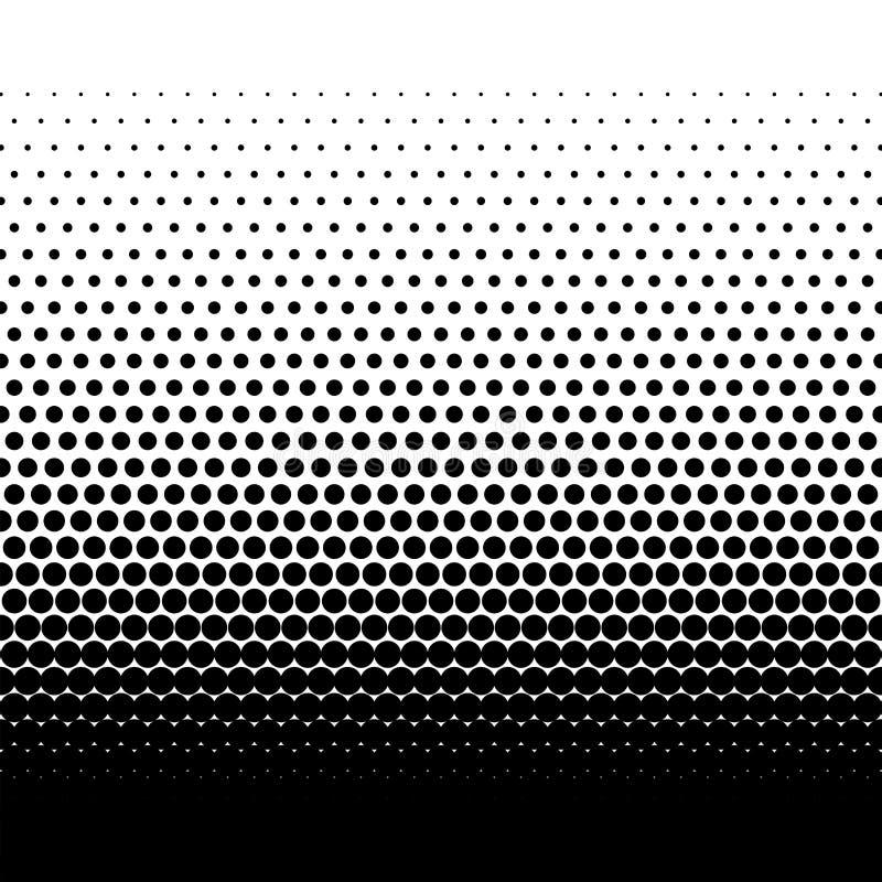 Schwarze Halbtonvektorpunktsteigung auf weißem Hintergrund vektor abbildung