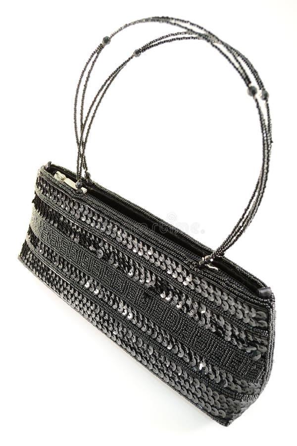 Schwarze Handtasche stockbilder