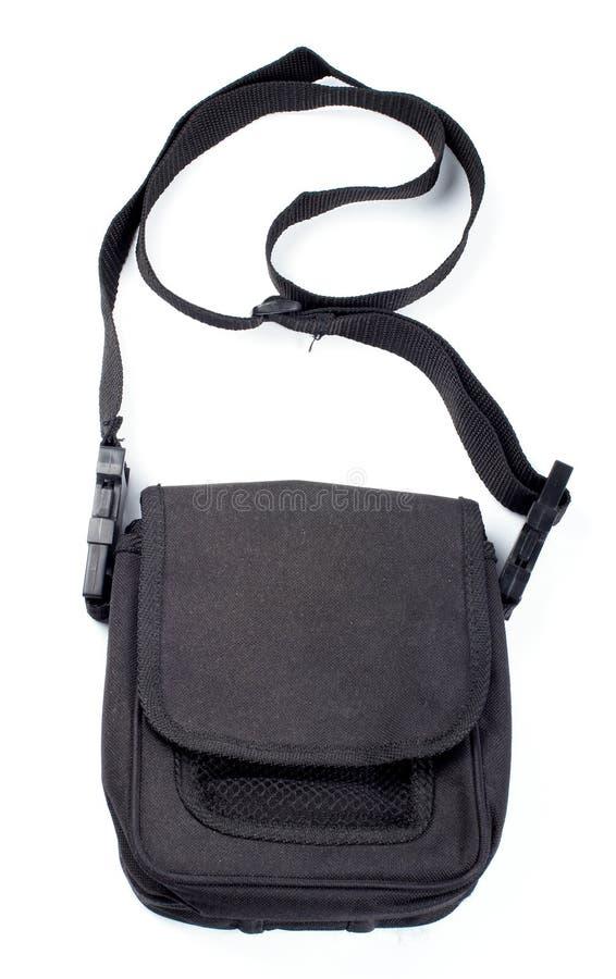 Schwarze Handtasche getrennt stockfoto