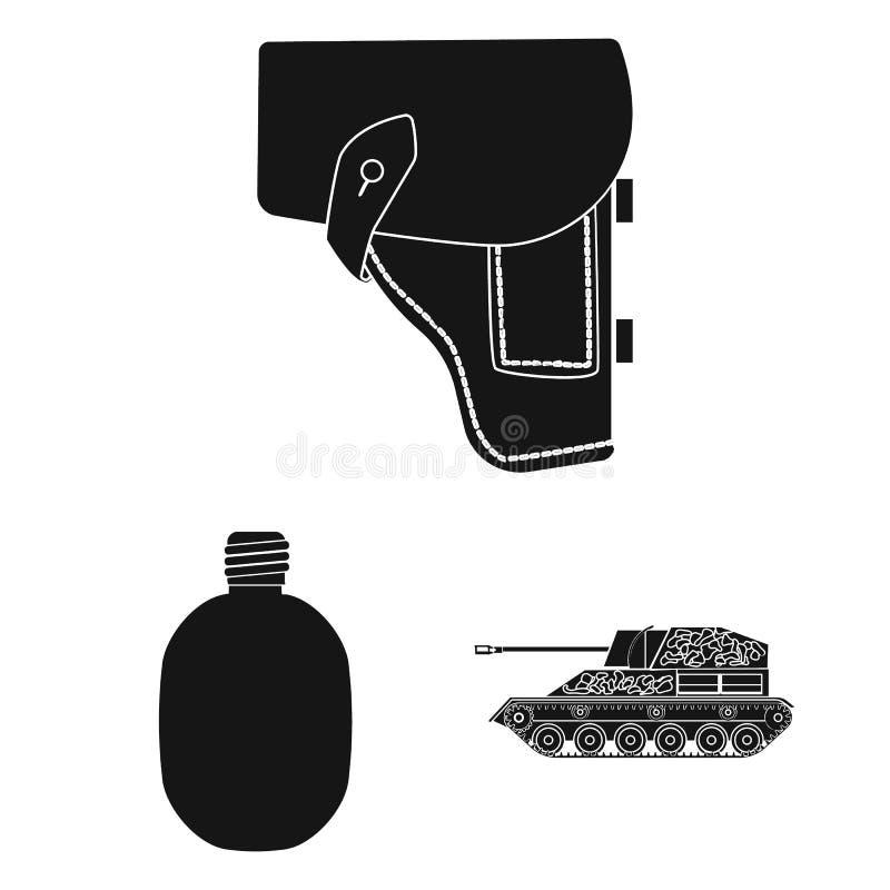Schwarze Ikonen der Armee und der Bewaffnung in der Satzsammlung für Design Waffen und Ausrüstung vector Netzillustration des Sym vektor abbildung