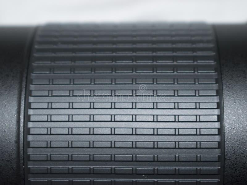 Schwarze Kameraobjektiv-Beschaffenheits-Nahaufnahme lizenzfreie stockfotos